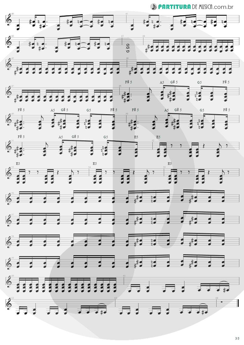 Partitura de musica de Guitarra Elétrica - Cut-Throat | Sepultura | Roots 1996 - pag 3