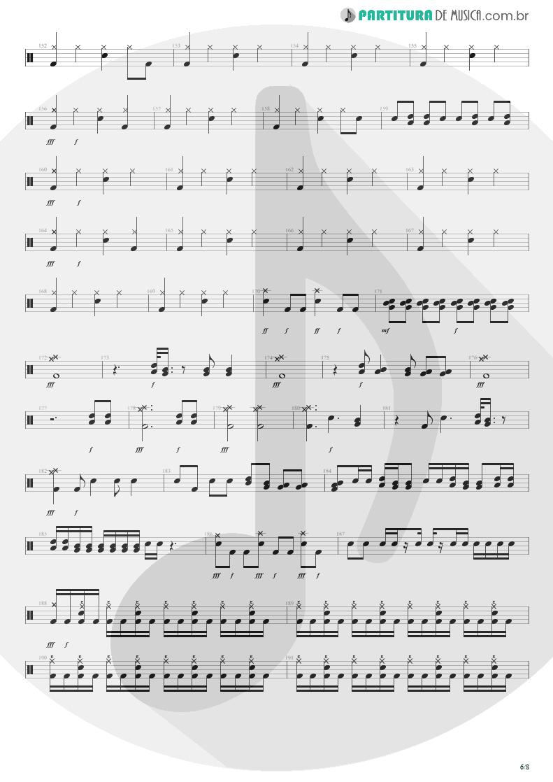 Partitura de musica de Bateria - Distant Thunder | Shaaman | Ritual 2002 - pag 6