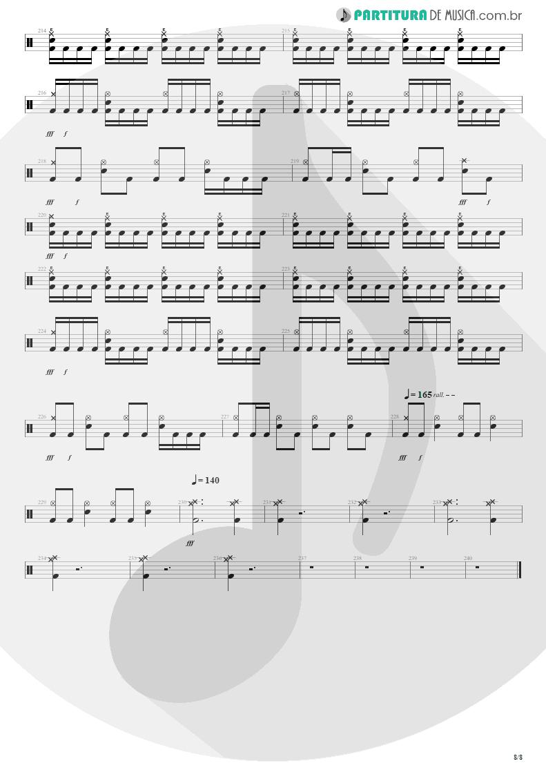 Partitura de musica de Bateria - Distant Thunder | Shaaman | Ritual 2002 - pag 8