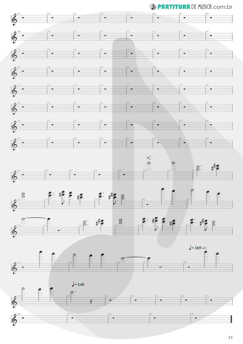 Partitura de musica de Canto - Distant Thunder | Shaaman | Ritual 2002 - pag 3