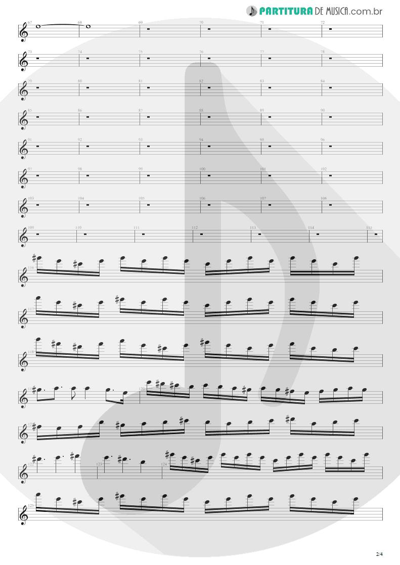 Partitura de musica de Guitarra Elétrica - Distant Thunder | Shaaman | Ritual 2002 - pag 2
