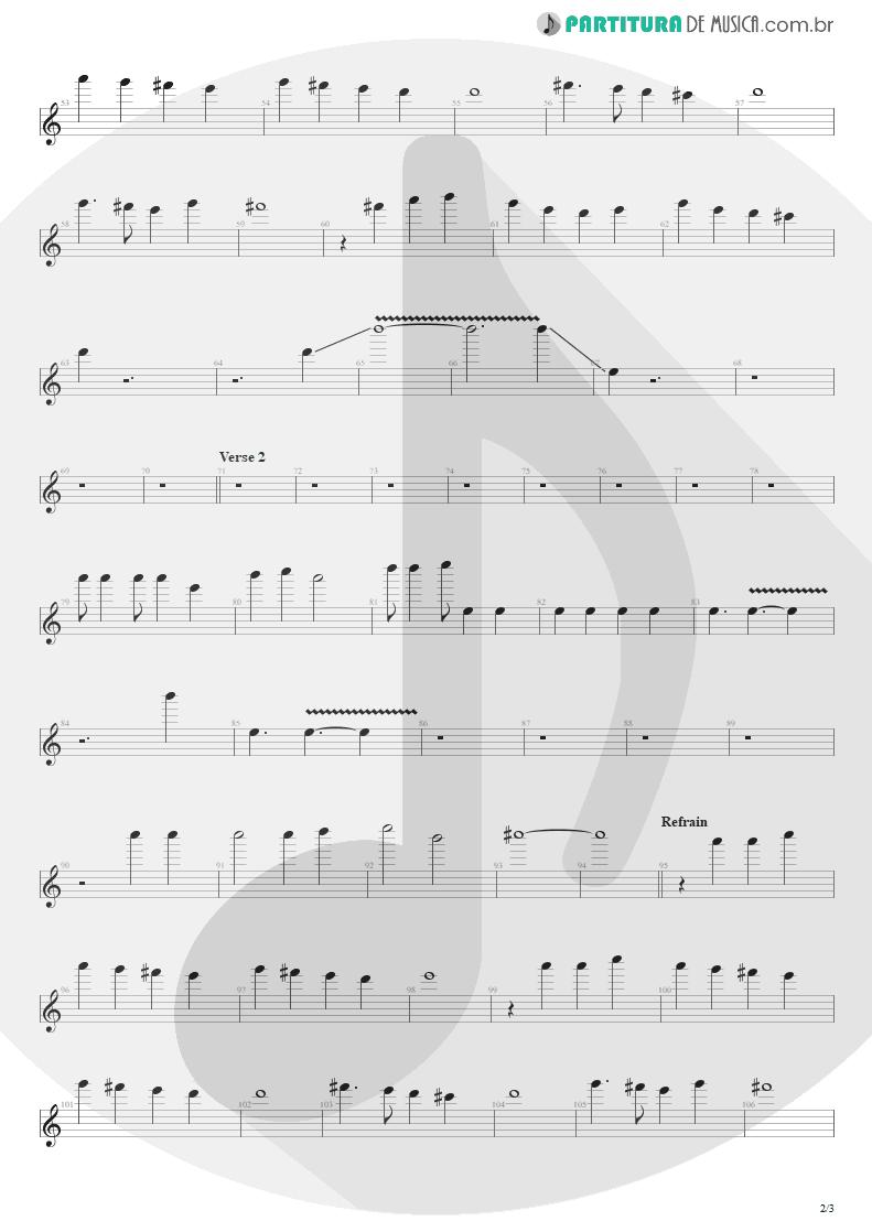 Partitura de musica de Canto - Pride | Shaaman | Ritual 2002 - pag 2