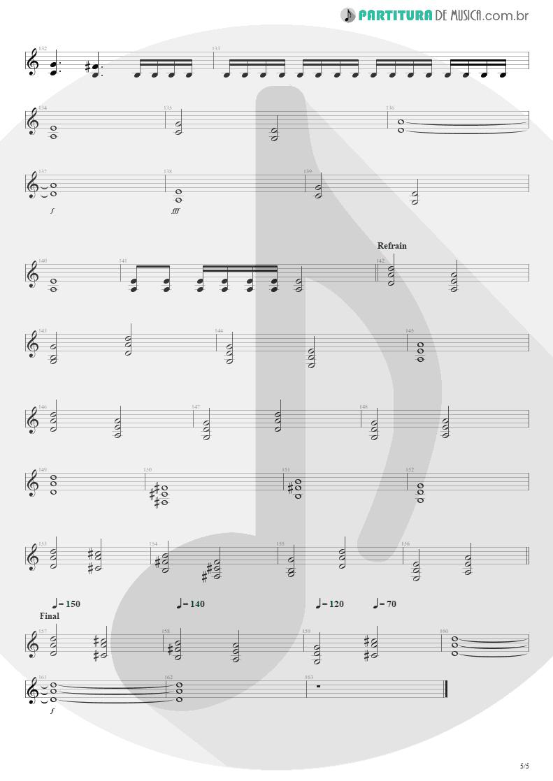 Partitura de musica de Guitarra Elétrica - Pride | Shaaman | Ritual 2002 - pag 5