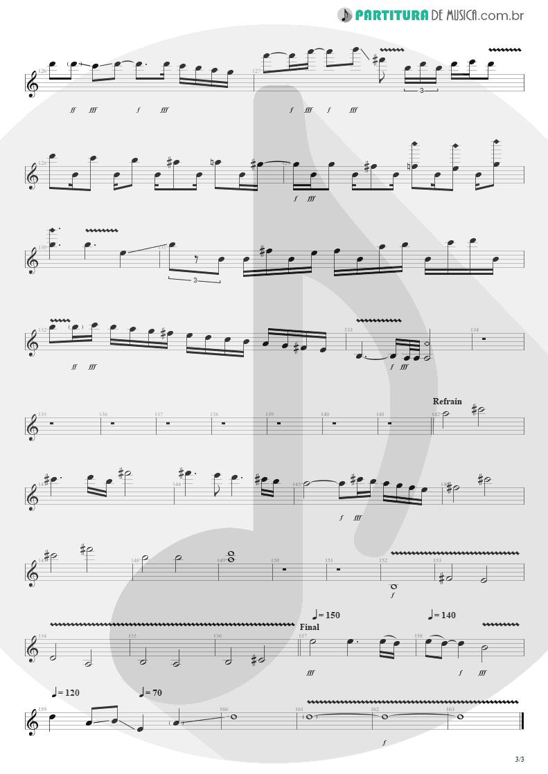 Partitura de musica de Guitarra Elétrica - Pride | Shaaman | Ritual 2002 - pag 3