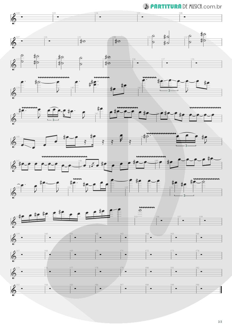 Partitura de musica de Guitarra Elétrica - Time Will Come | Shaaman | Ritual 2002 - pag 3