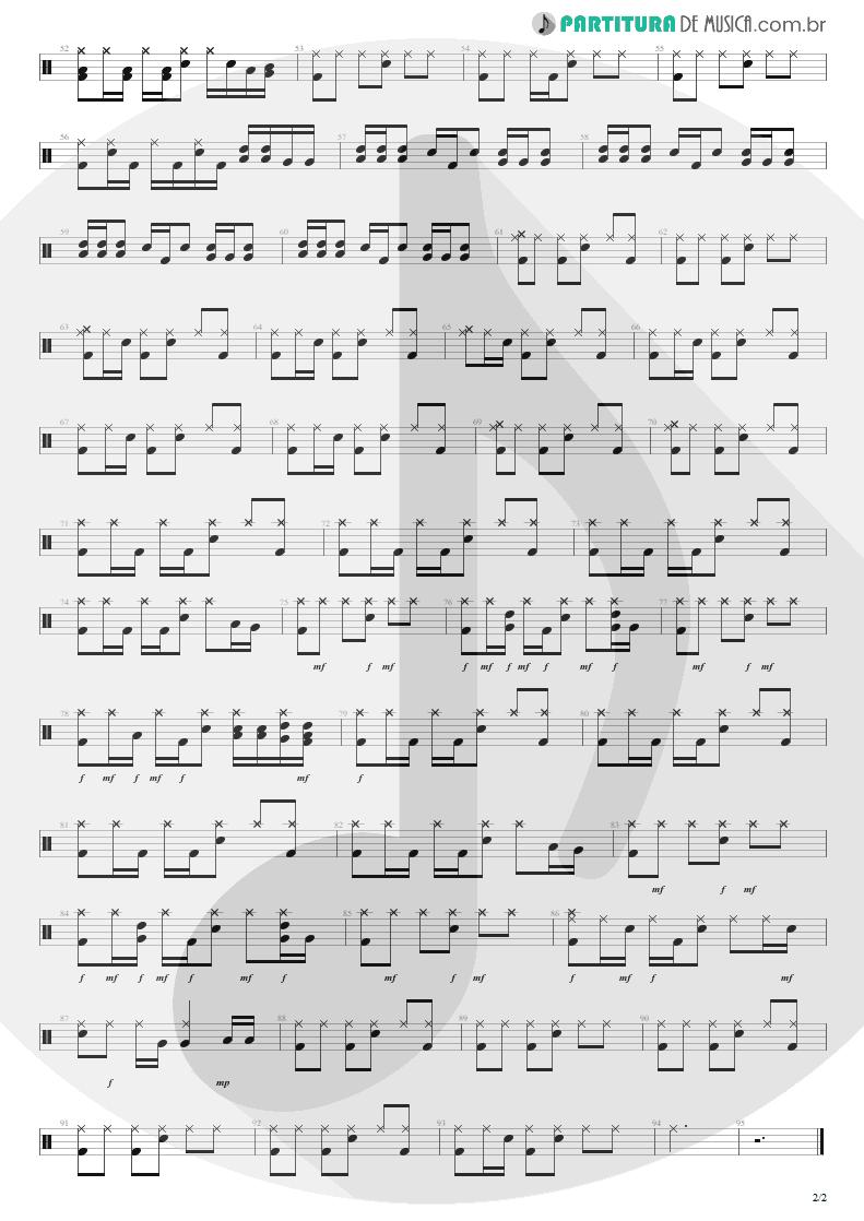 Partitura de musica de Bateria - Miss You Love | Silverchair | Neon Ballroom 1999 - pag 2