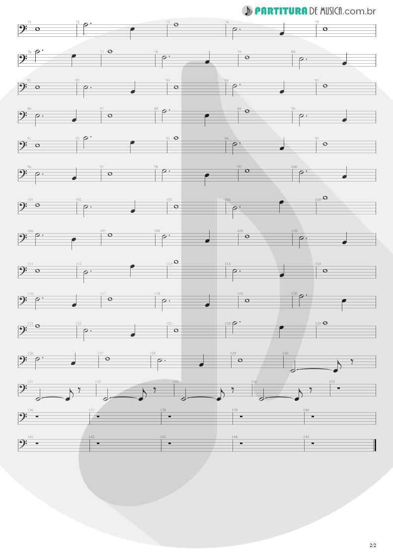 Partitura de musica de Baixo Elétrico - For The Love Of God | Steve Vai | Passion and Warfare 1990 - pag 2