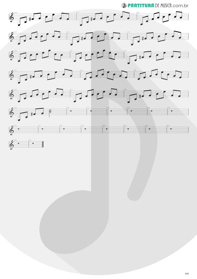 Partitura de musica de Banjo - For The Love Of God | Steve Vai | Passion and Warfare 1990 - pag 4