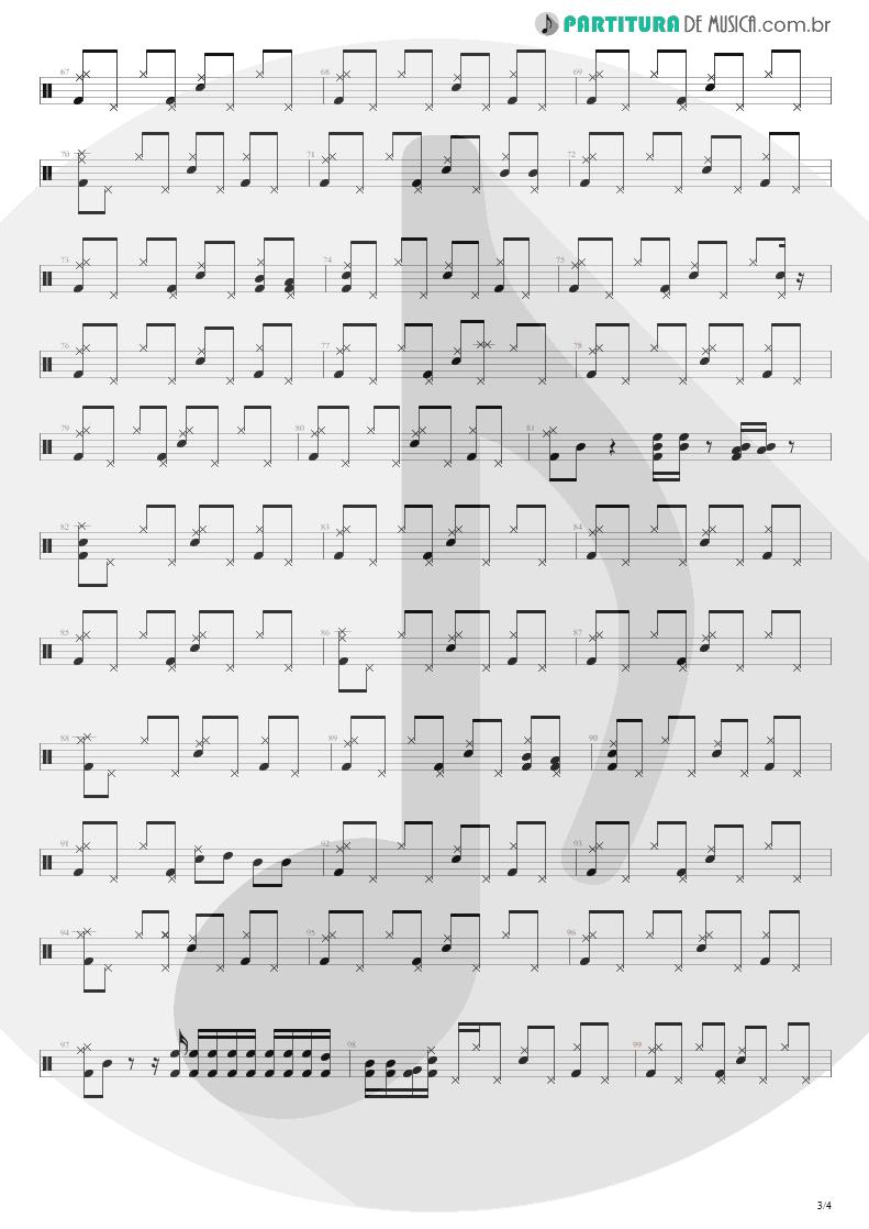 Partitura de musica de Bateria - For The Love Of God   Steve Vai   Passion and Warfare 1990 - pag 3