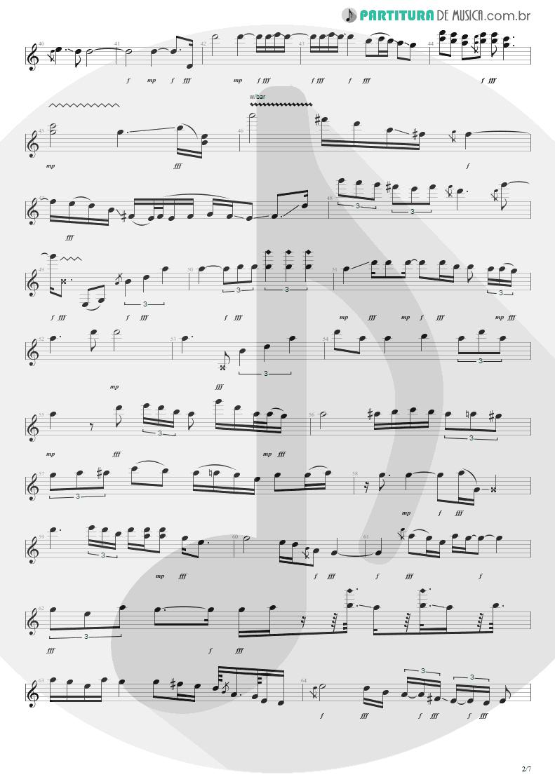 Partitura de musica de Guitarra Elétrica - For The Love Of God   Steve Vai   Passion and Warfare 1990 - pag 2