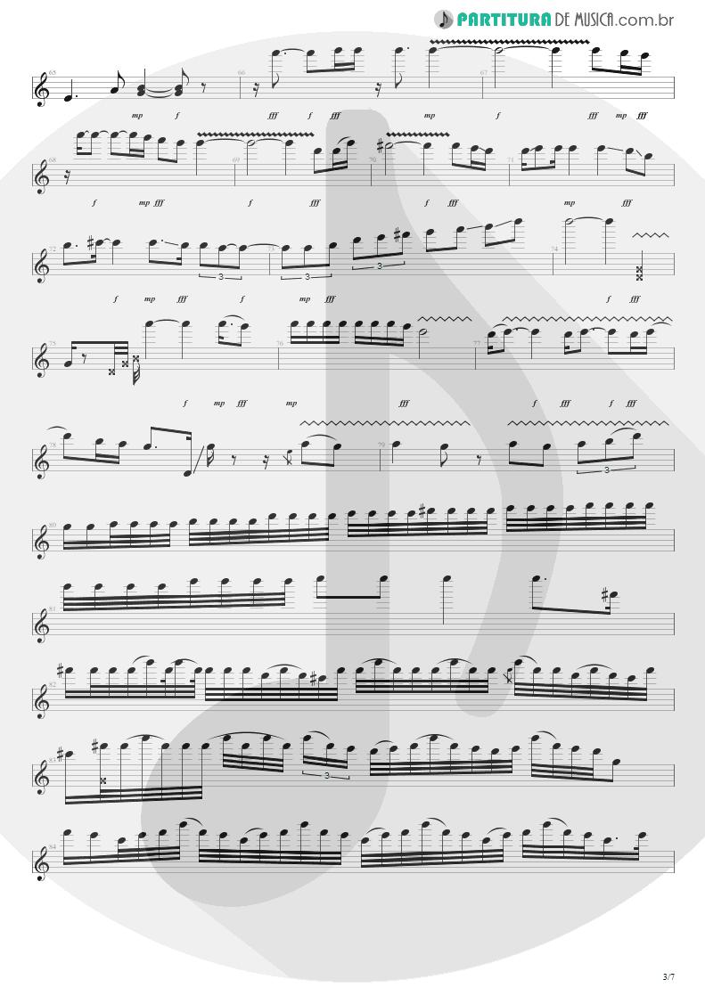 Partitura de musica de Guitarra Elétrica - For The Love Of God   Steve Vai   Passion and Warfare 1990 - pag 3