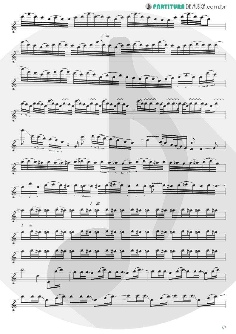 Partitura de musica de Guitarra Elétrica - For The Love Of God   Steve Vai   Passion and Warfare 1990 - pag 4