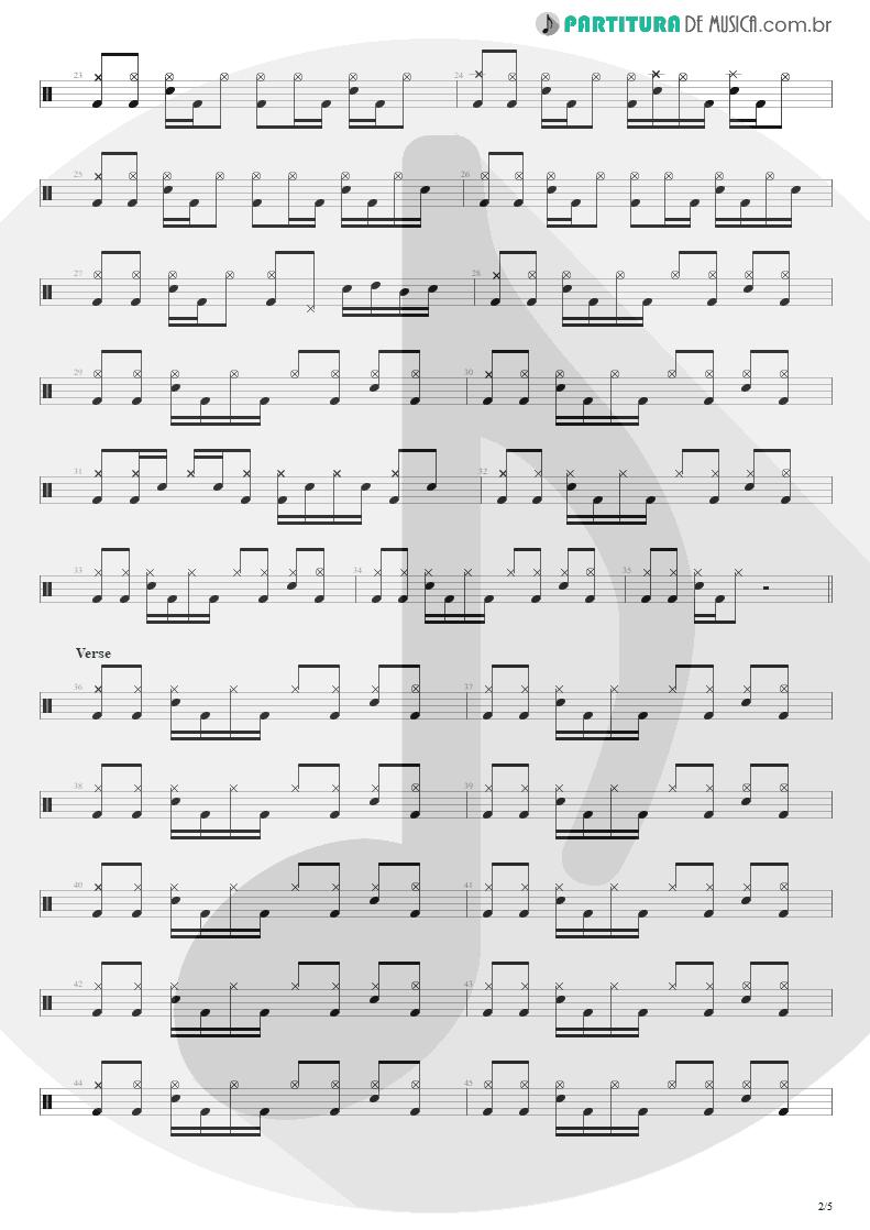 Partitura de musica de Bateria - Building The Church | Steve Vai | Real Illusions: Reflections 2005 - pag 2