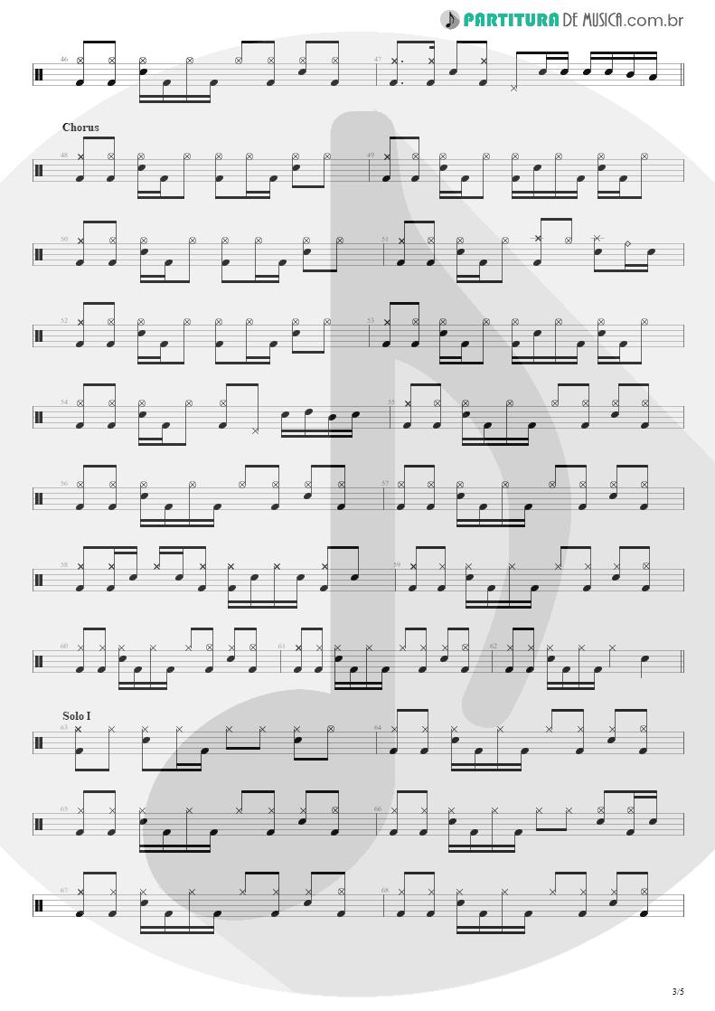 Partitura de musica de Bateria - Building The Church | Steve Vai | Real Illusions: Reflections 2005 - pag 3