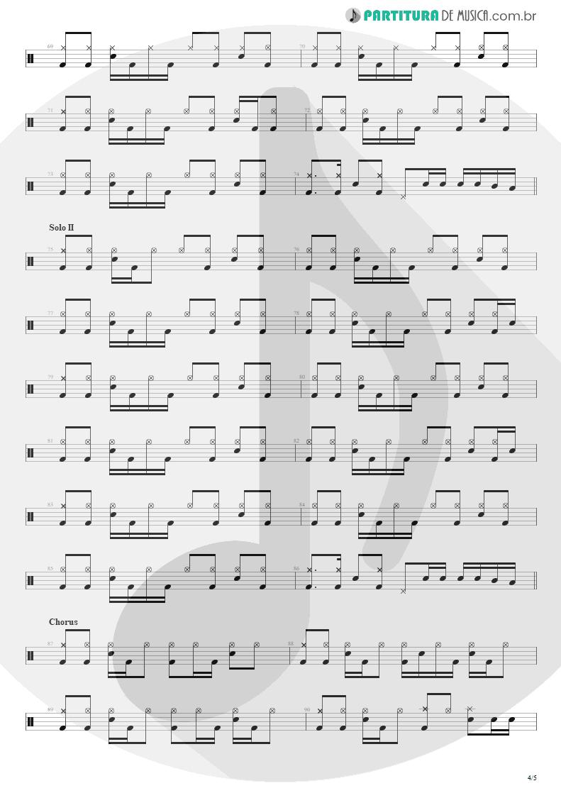 Partitura de musica de Bateria - Building The Church | Steve Vai | Real Illusions: Reflections 2005 - pag 4