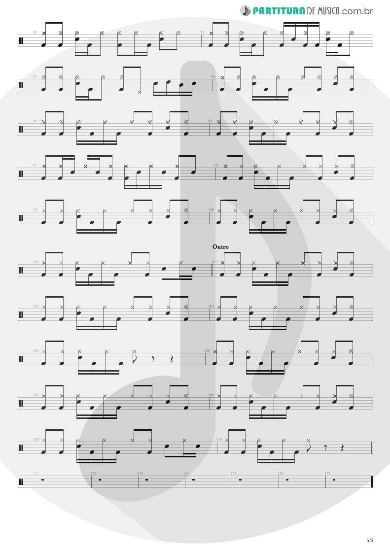 Partitura de musica de Bateria - Building The Church | Steve Vai | Real Illusions: Reflections 2005 - pag 5