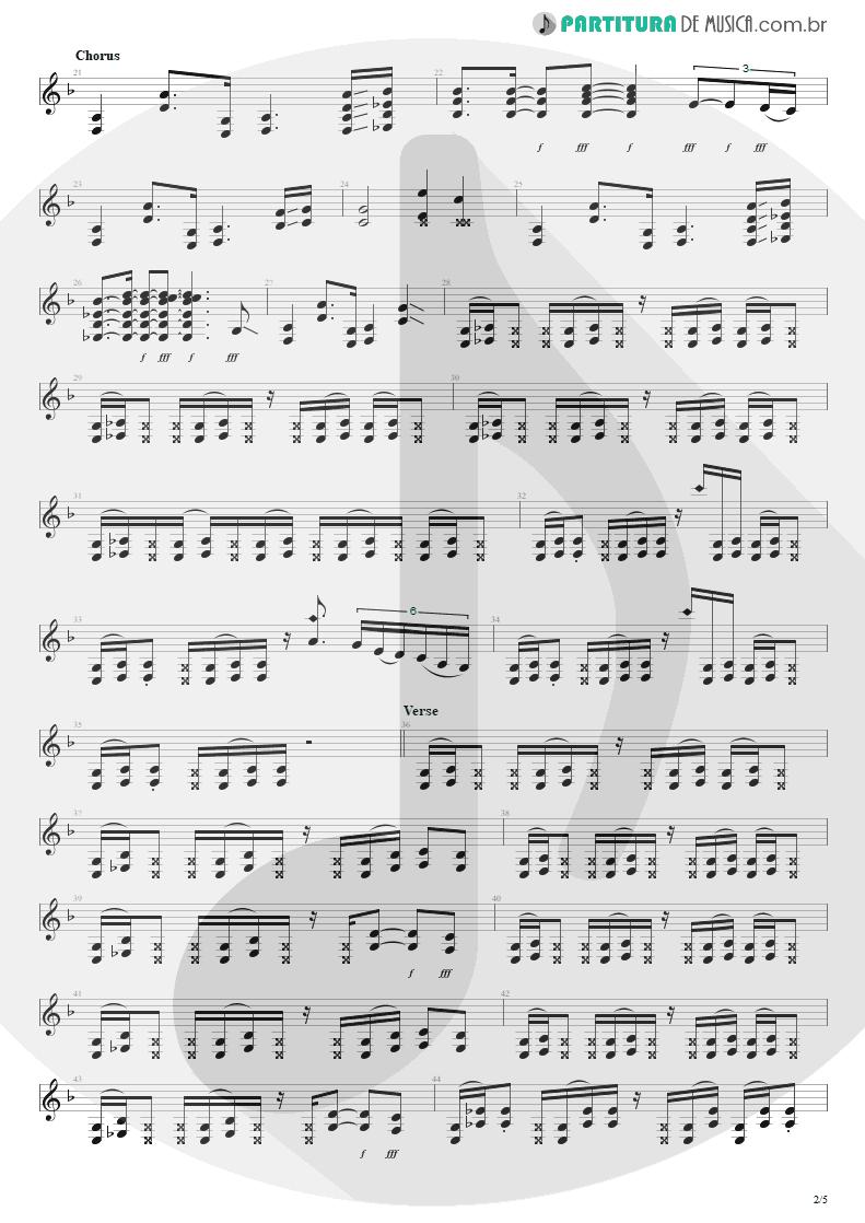 Partitura de musica de Guitarra Elétrica - Building The Church | Steve Vai | Real Illusions: Reflections 2005 - pag 2