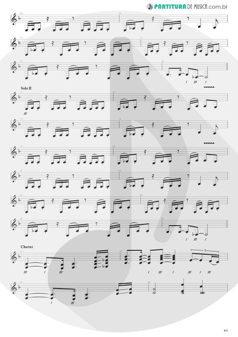 Partitura de musica de Guitarra Elétrica - Building The Church | Steve Vai | Real Illusions: Reflections 2005 - pag 4