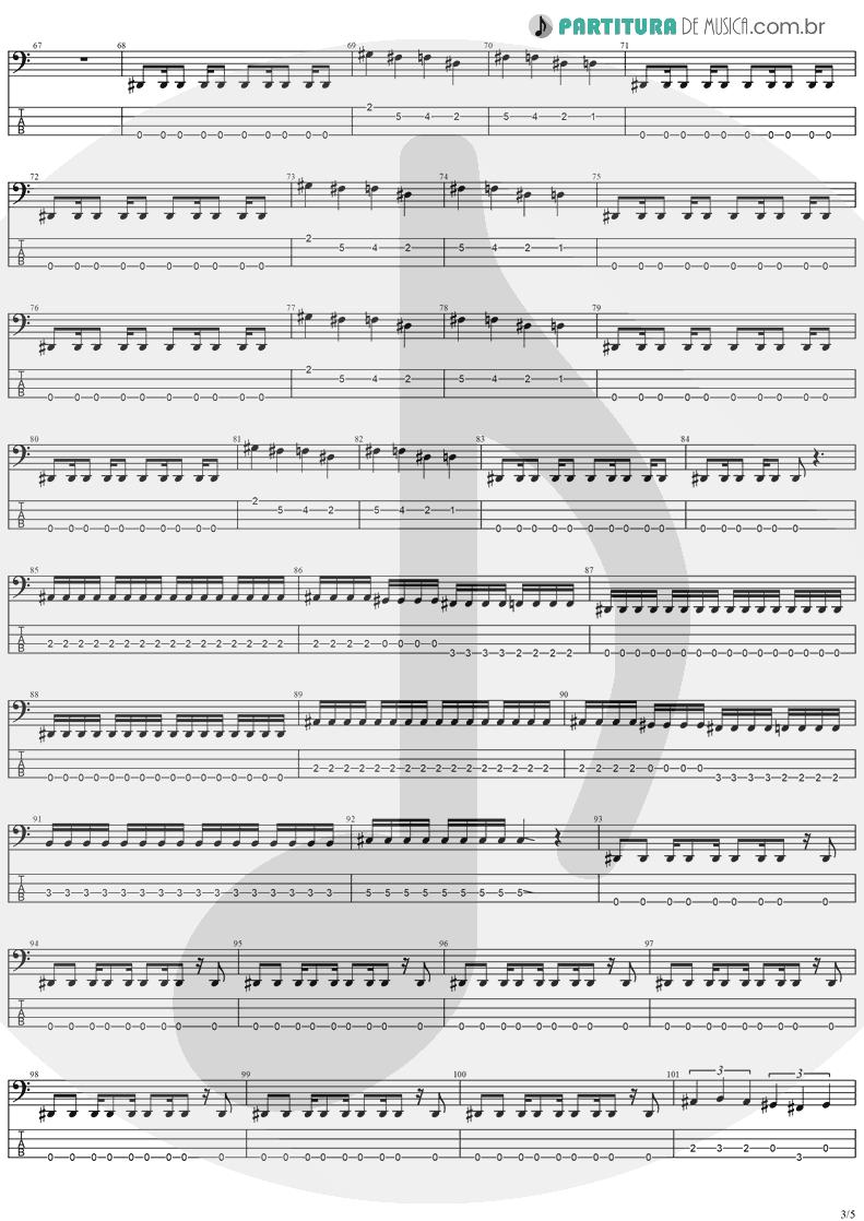 Tablatura + Partitura de musica de Baixo Elétrico - Future Shock | Stratovarius | Fright Night 1989 - pag 3