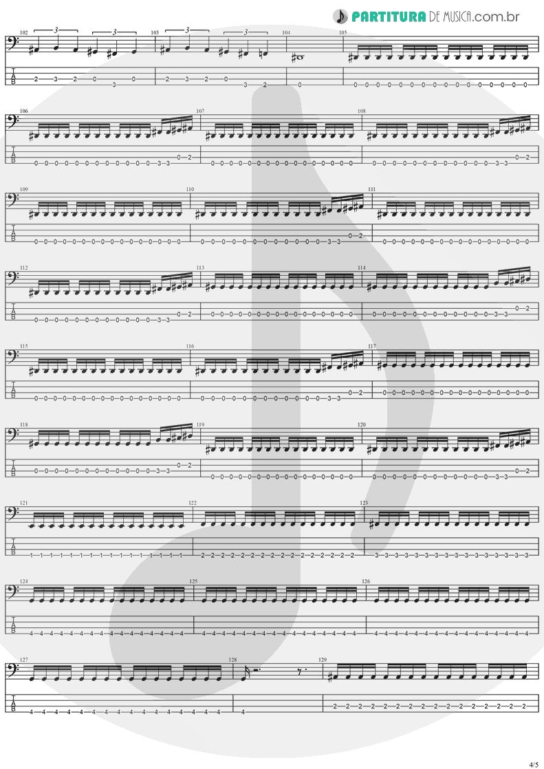 Tablatura + Partitura de musica de Baixo Elétrico - Future Shock | Stratovarius | Fright Night 1989 - pag 4