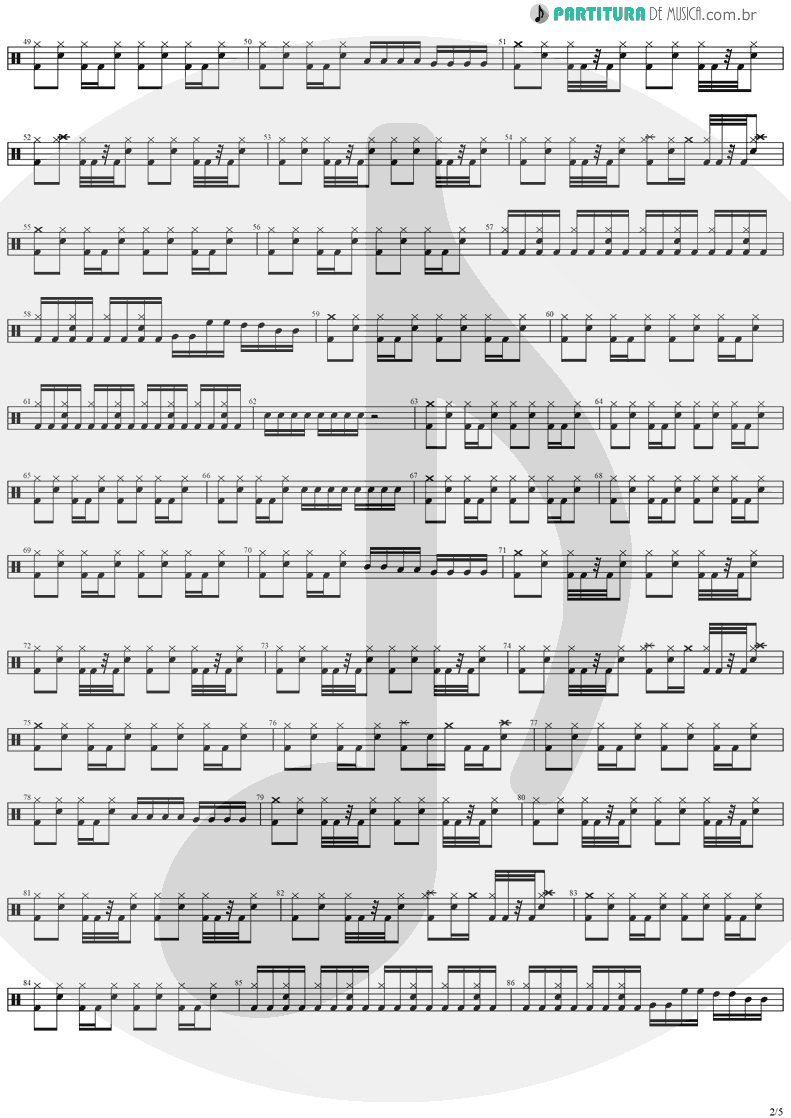 Partitura de musica de Bateria - The Hands Of Time | Stratovarius | Twilight Time 1992 - pag 2