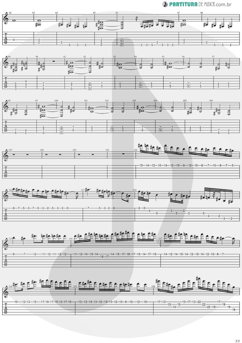 Tablatura + Partitura de musica de Guitarra Elétrica - The Hands Of Time | Stratovarius | Twilight Time 1992 - pag 3