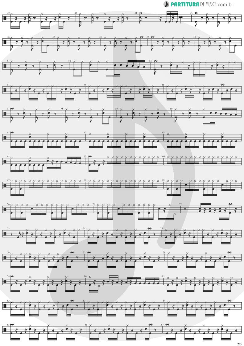 Partitura de musica de Bateria - Reign Of Terror | Stratovarius | Dreamspace 1994 - pag 2