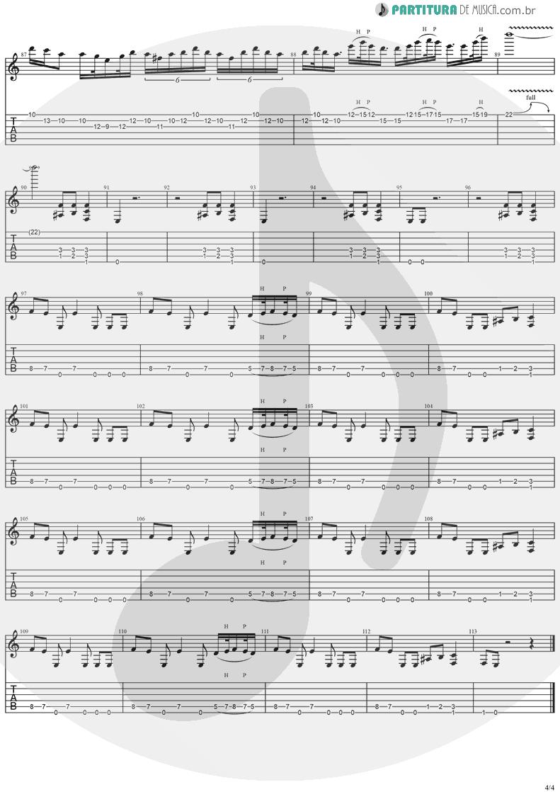 Tablatura + Partitura de musica de Guitarra Elétrica - Reign Of Terror | Stratovarius | Dreamspace 1994 - pag 4