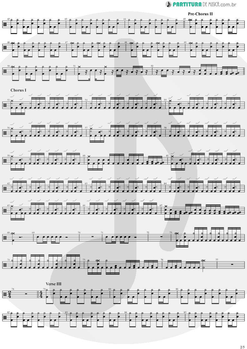 Partitura de musica de Bateria - Father Time | Stratovarius | Episode 1996 - pag 2