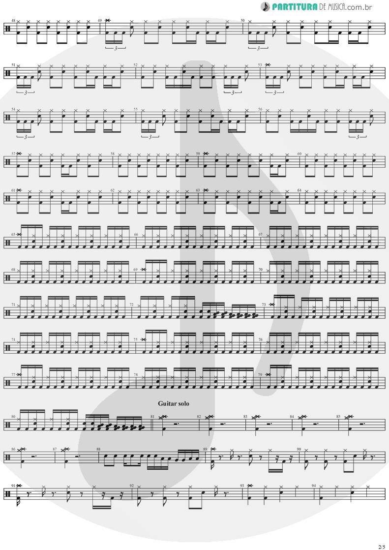 Partitura de musica de Bateria - Black Diamond   Stratovarius   Visions 1997 - pag 2