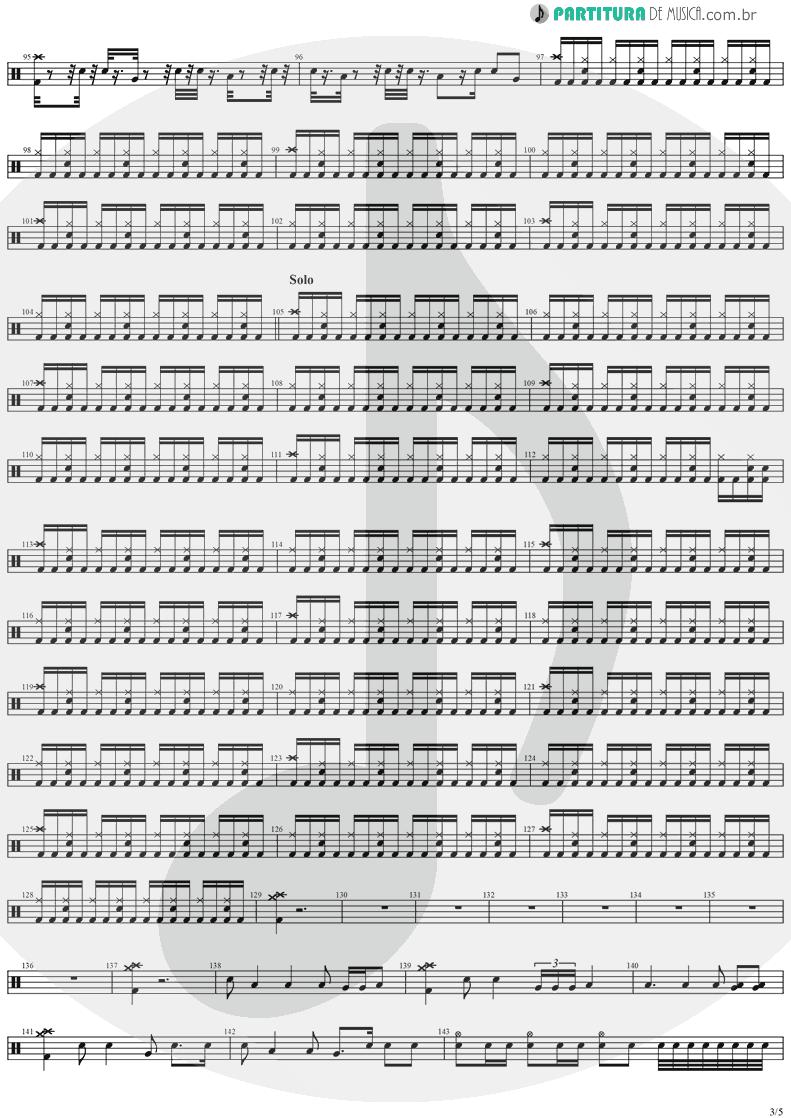 Partitura de musica de Bateria - Black Diamond   Stratovarius   Visions 1997 - pag 3