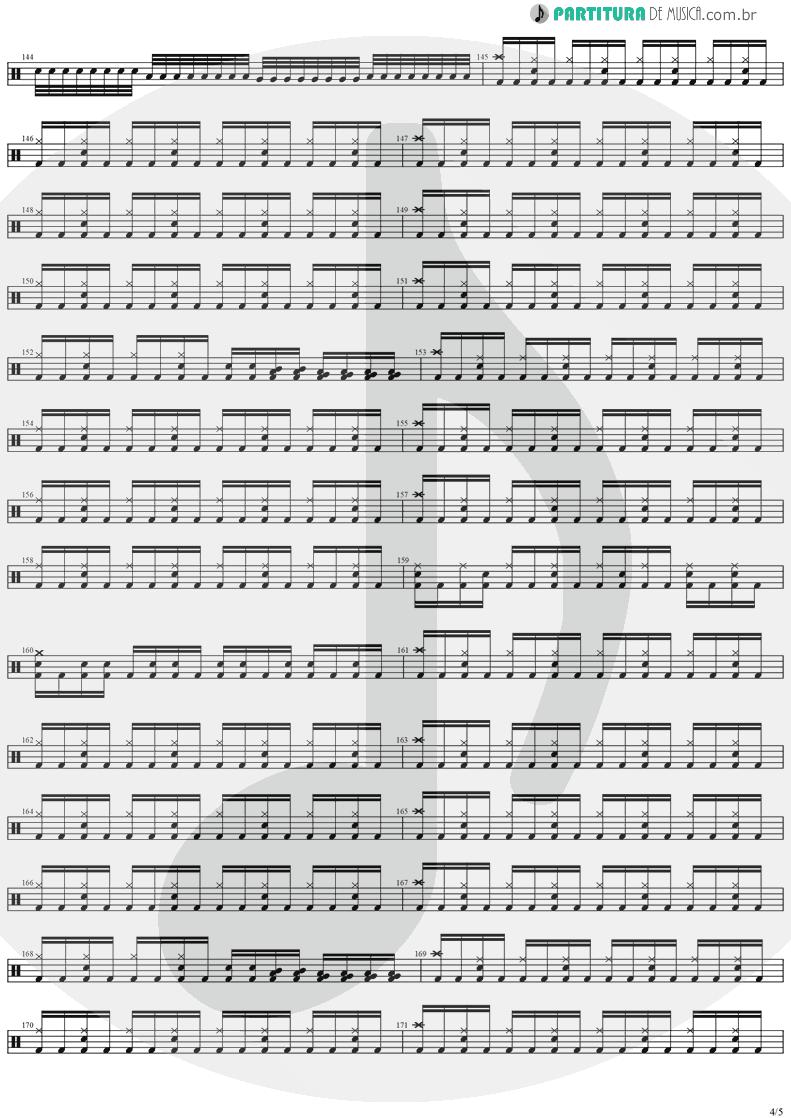 Partitura de musica de Bateria - Black Diamond   Stratovarius   Visions 1997 - pag 4