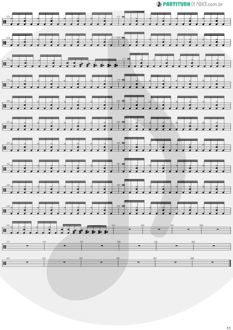 Partitura de musica de Bateria - Black Diamond   Stratovarius   Visions 1997 - pag 5