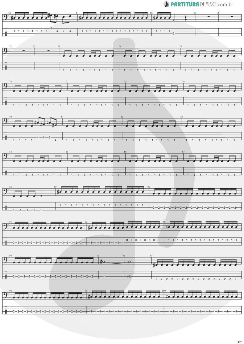 Tablatura + Partitura de musica de Baixo Elétrico - Forever Free   Stratovarius   Visions 1997 - pag 3