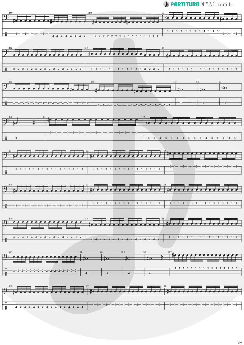 Tablatura + Partitura de musica de Baixo Elétrico - Forever Free   Stratovarius   Visions 1997 - pag 6