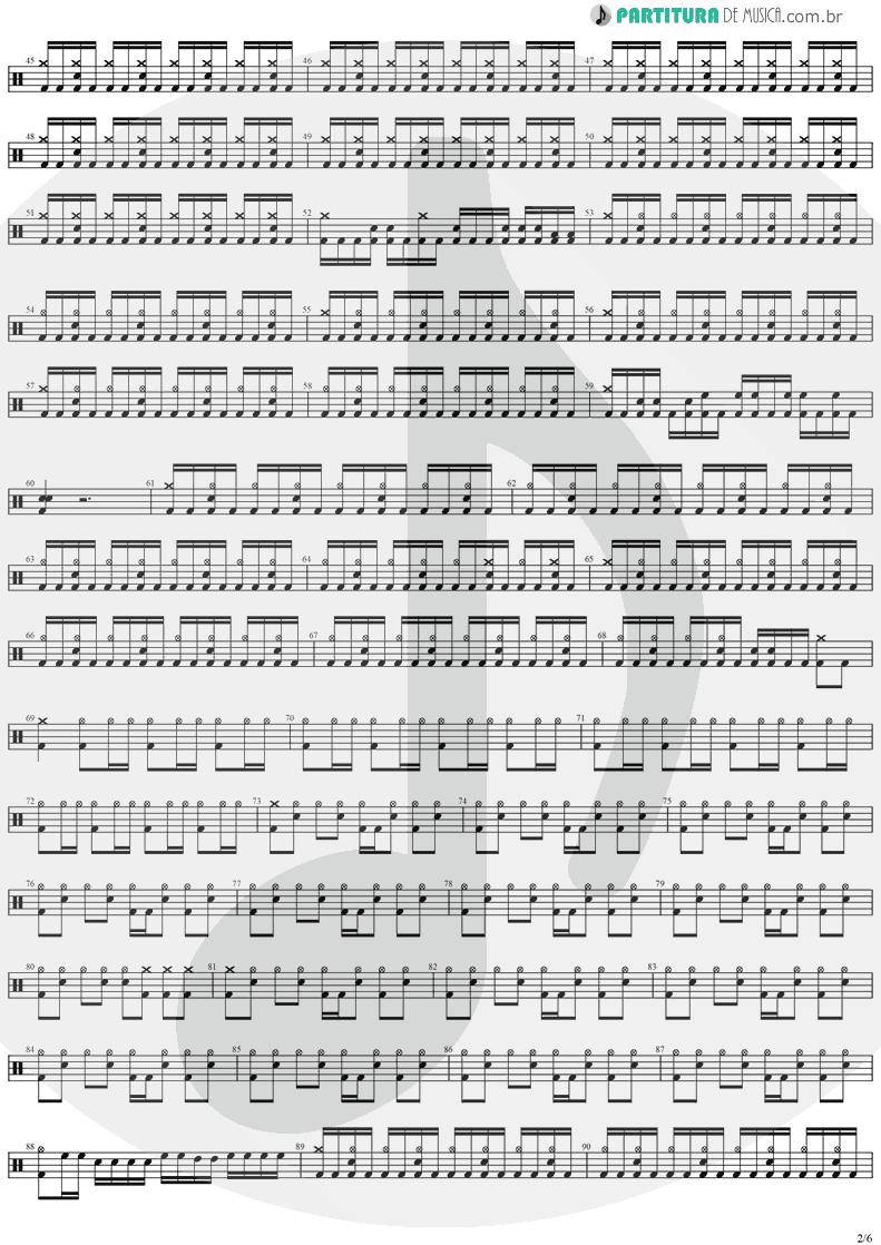 Partitura de musica de Bateria - Forever Free | Stratovarius | Visions 1997 - pag 2