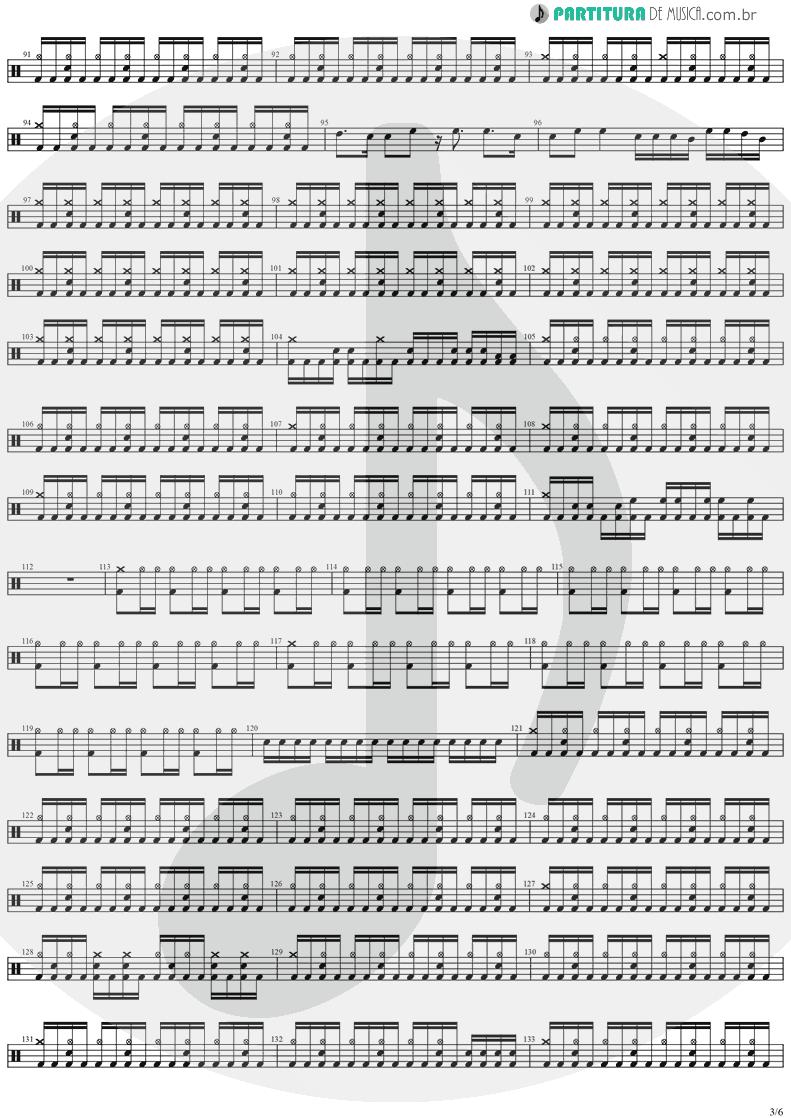 Partitura de musica de Bateria - Forever Free | Stratovarius | Visions 1997 - pag 3