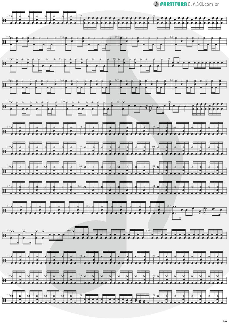 Partitura de musica de Bateria - Forever Free | Stratovarius | Visions 1997 - pag 4