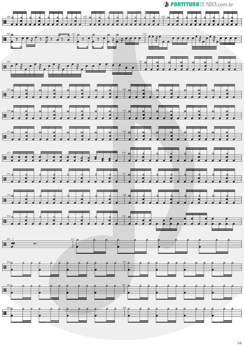 Partitura de musica de Bateria - Forever Free | Stratovarius | Visions 1997 - pag 5