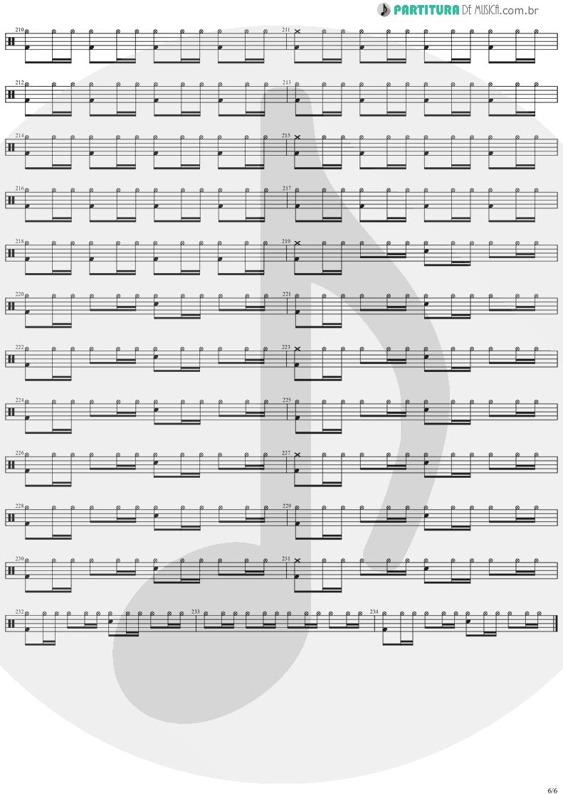Partitura de musica de Bateria - Forever Free | Stratovarius | Visions 1997 - pag 6