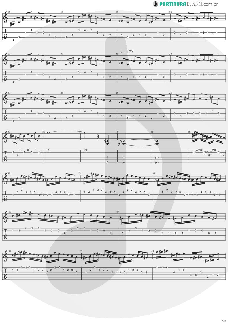 Tablatura + Partitura de musica de Guitarra Elétrica - Holy Light | Stratovarius | Visions 1997 - pag 2