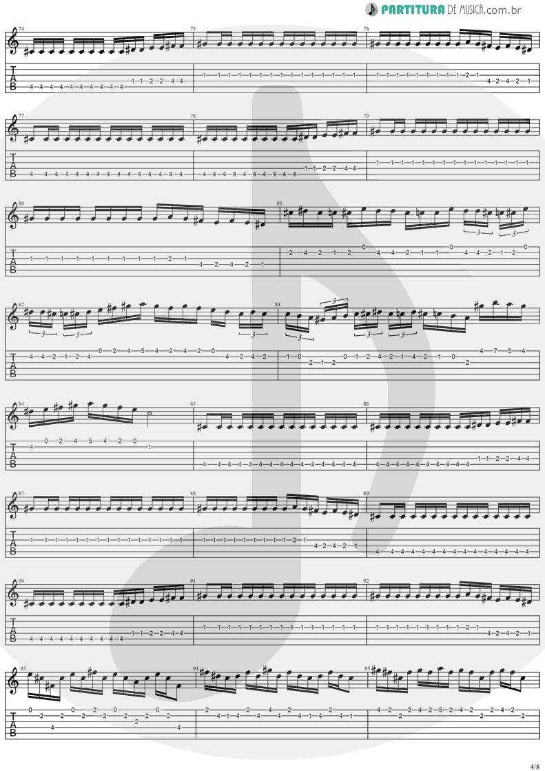 Tablatura + Partitura de musica de Guitarra Elétrica - Holy Light | Stratovarius | Visions 1997 - pag 4