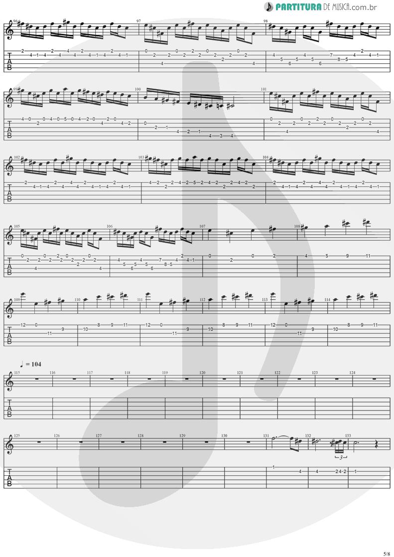 Tablatura + Partitura de musica de Guitarra Elétrica - Holy Light | Stratovarius | Visions 1997 - pag 5