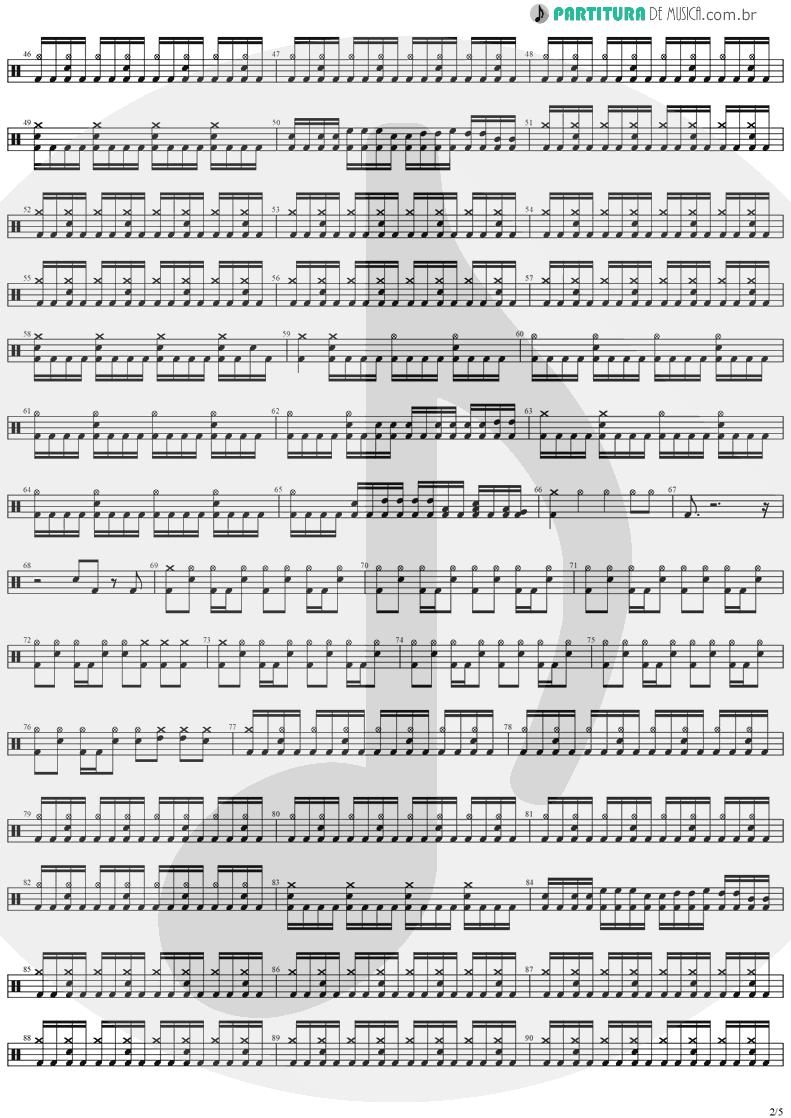 Partitura de musica de Bateria - Legions | Stratovarius | Visions 1997 - pag 2