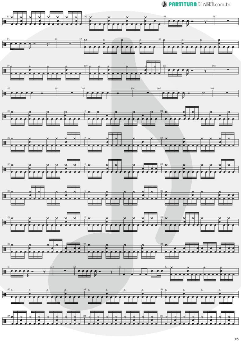 Partitura de musica de Bateria - Legions | Stratovarius | Visions 1997 - pag 3
