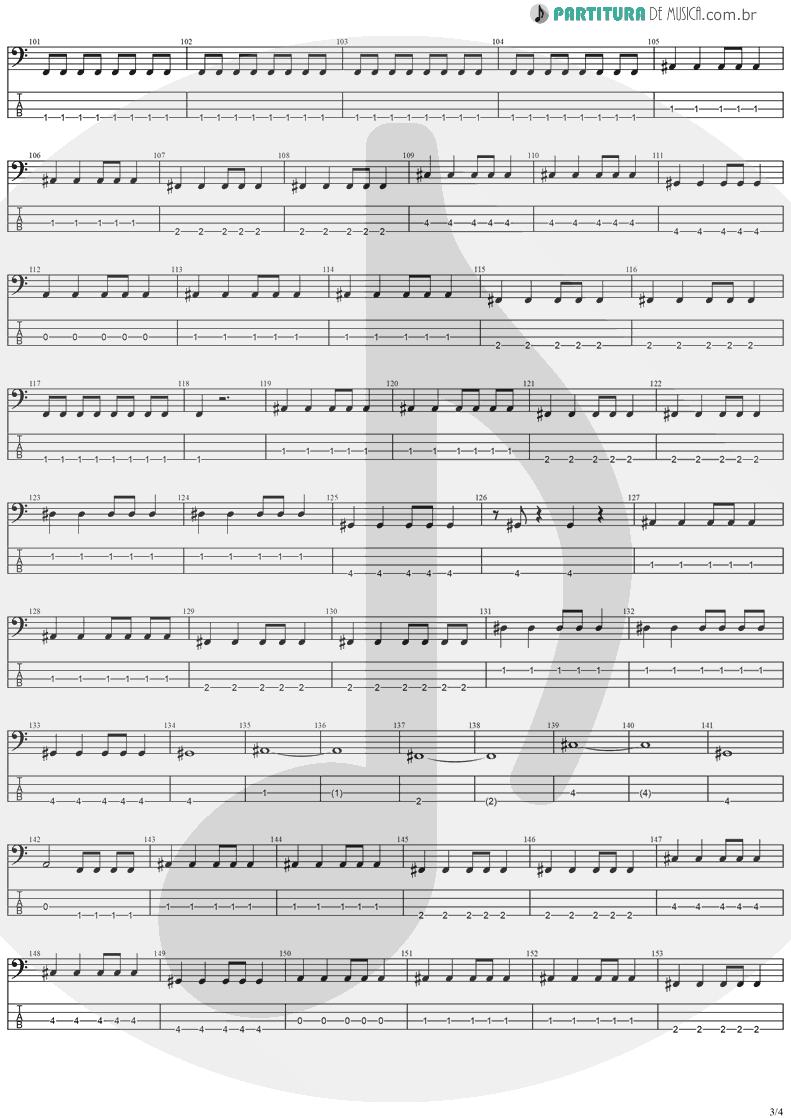 Tablatura + Partitura de musica de Baixo Elétrico - Paradise | Stratovarius | Visions 1997 - pag 3