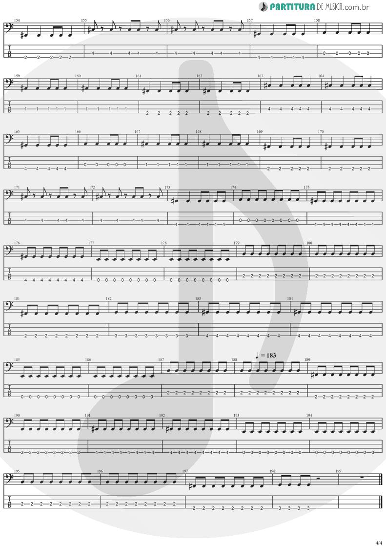 Tablatura + Partitura de musica de Baixo Elétrico - Paradise | Stratovarius | Visions 1997 - pag 4