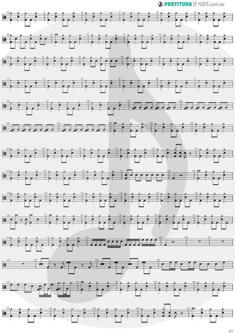 Partitura de musica de Bateria - Paradise | Stratovarius | Visions 1997 - pag 2