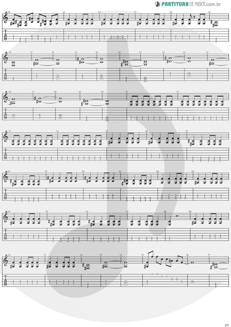 Tablatura + Partitura de musica de Guitarra Elétrica - Paradise | Stratovarius | Visions 1997 - pag 2