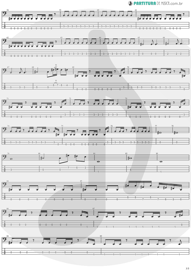 Tablatura + Partitura de musica de Baixo Elétrico - The Abyss Of Your Eyes | Stratovarius | Visions 1997 - pag 3